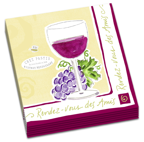 A best selling design for wine lovers.  High quality, 2 ply napkins, 20 per pack, printed in Germany.